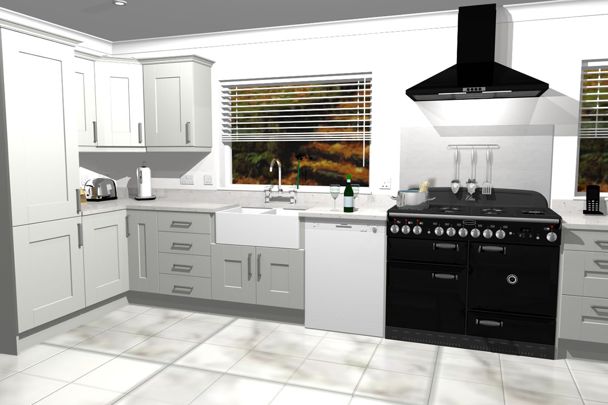 3D Rendered CAD Images from Ashwood Kitchen Design by Geoff Sturgeon